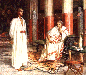OUR LORD  BEFORE PILATE TO BE JUDGE-----PICTURE GALLERY#2